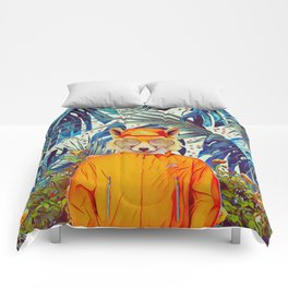 Floral foxy Comforters