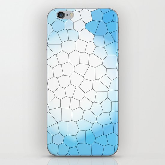 IRREGULAR LIGHT BLUE iPhone & iPod Skin