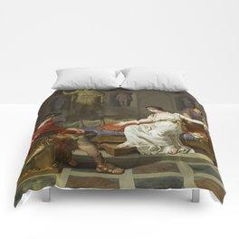 Cleopatra and Octavian Comforters