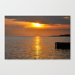 Sundown on the Bay Canvas Print