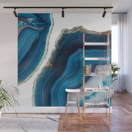 Blue Agate Wall Mural