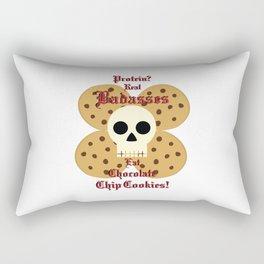 Real Badasses Eat Cookies! Rectangular Pillow