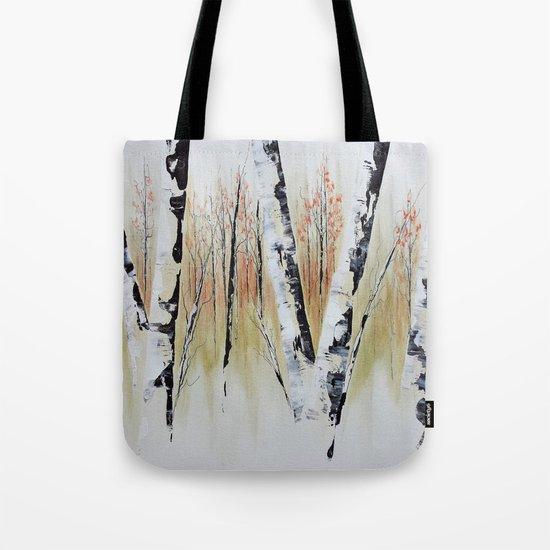 October Birch Forest Tote Bag