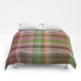 Red Rose with Light 1 Plaid 1 Comforters