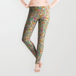 Shiba Inu dog floral pet gifts must haves shiba inus dog breeds pure bred Leggings