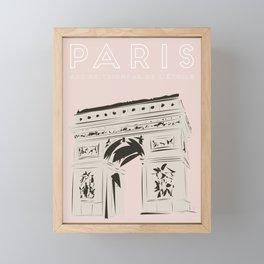 Paris Arc de Triomphe de l'Étoile Travel Poster Framed Mini Art Print