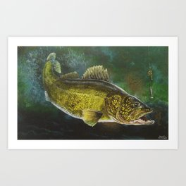 """Walleye- the Golden Beauty"" Art Print"