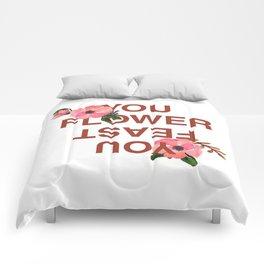 Flower you feast Comforters