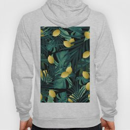 Tropical Lemon Twist Jungle Night #1 #tropical #decor #art #society6 Hoody