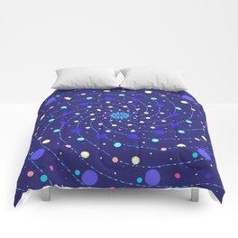 Blue Ray Star Mandala Comforters