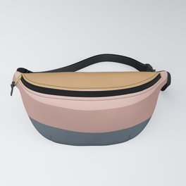Neutral Retro Sunset Fanny Pack