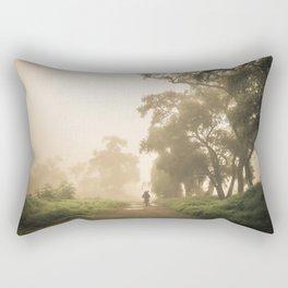 Morning in the fog Rectangular Pillow