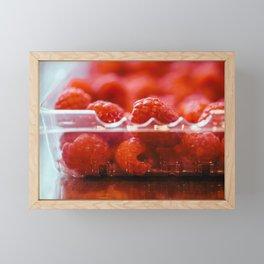 Raspberries Framed Mini Art Print