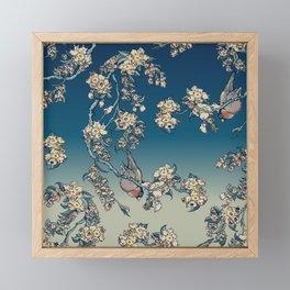 Bullfinch and French Bulldog Cherry Framed Mini Art Print