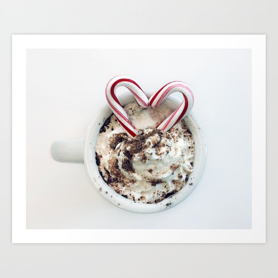 i heart hot chocolate Art Print