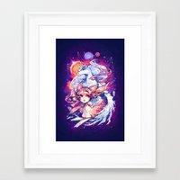 barachan Framed Art Prints featuring rhapsody by barachan