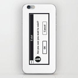 Basic Existentialism I iPhone Skin