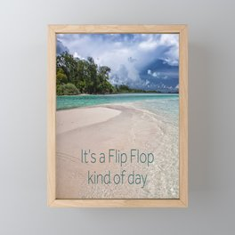 Flip Flops and Ocean Framed Mini Art Print