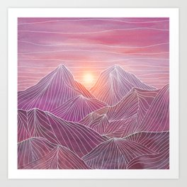 Lines in the mountains 02 Art Print