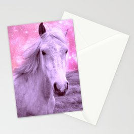 Pink Horse Celestial Dreams Stationery Cards