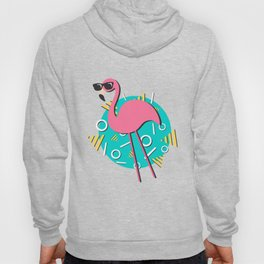 90s Retro Flamingo Hoody
