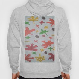 Autumn Leaves Pattern Hoody