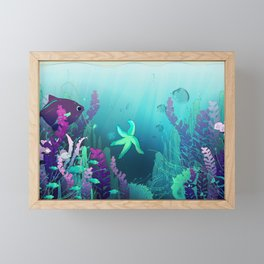 Deep down in the water Framed Mini Art Print