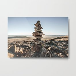 Stacked rocks Metal Print