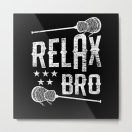 Lacrosse Relax Metal Print