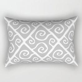 Diamond Pattern Gray Rectangular Pillow