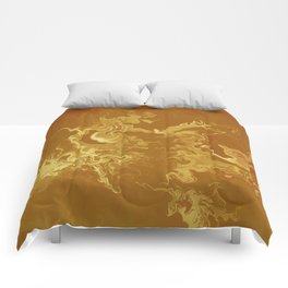 Dragon fire abstract Comforters