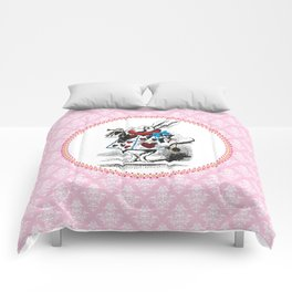 Alice in Wonderland | The Herald of the Court of Hearts (White Rabbit) Comforters