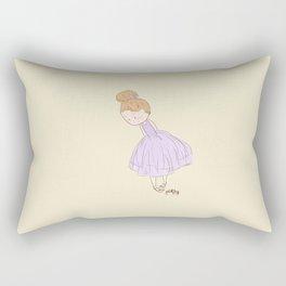 Shy Ballerina 3 Rectangular Pillow