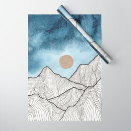 Indigo & gold landscape 12 Wrapping Paper