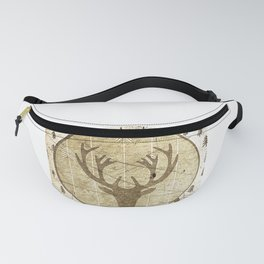 Vintage deer Fanny Pack