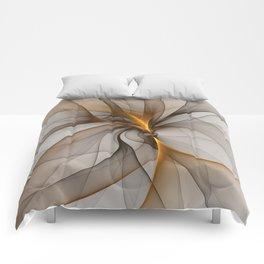 Elegant Chaos, Abstract Fractal Art Comforters