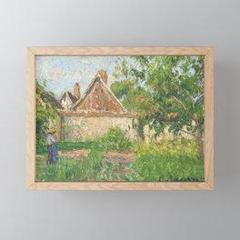"Camille Pissarro ""Coin du jardin à Éragny"" (1899)(""Corner of the garden in Éragny"" Framed Mini Art Print"