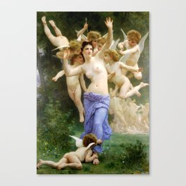 "William-Adolphe Bouguereau ""The Invasion (The Wasp's Nest)"" Canvas Print"