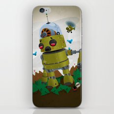 Monster robot toy iPhone & iPod Skin