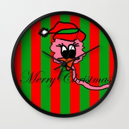 Christmas Pink Duck | The Duck that he thought it was swans Wall Clock