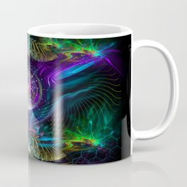 Neon - Fractal - Visionary Art - Manafold Art Coffee Mug