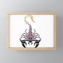 Scorpio, animal print, wild nature, scorpion, zodiac sign, celtic design Framed Mini Art Print
