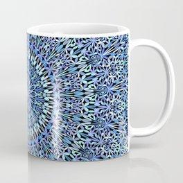 Blue Garden of Life Mandala Coffee Mug