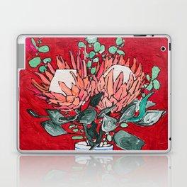Delft Bird Vase of Proteas on Red Laptop & iPad Skin
