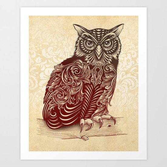 Most Ornate Owl Art Print