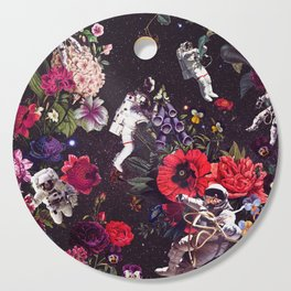 Flowers and Astronauts Cutting Board