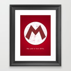 Mario Hero Framed Art Print