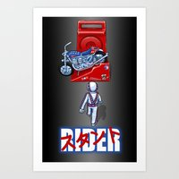 Stunt Rider Art Print