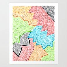 Trianglez Art Print