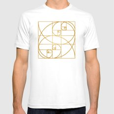Golden Waves Mens Fitted Tee White SMALL